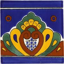 blue shell talavera mexican tile