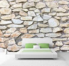 vlies tapete poster fototapete steine steinmauer hell natur