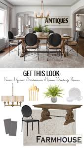 Fixer Upper Scrivano House Dining Room Find Nearly Identical Sources For The Modern Tudor Style