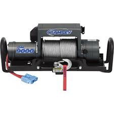 100 Truck Wench Ramsey QuickMount 12 Volt DC Powered Electric Winch 9000