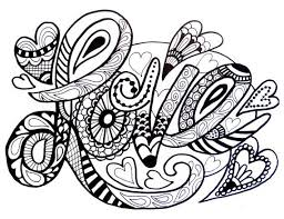 Adult Colouring Hearts Love Zenta Fabulous Coloring Pages For Adults