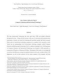 100 Define Omer PDF How Scholars The Field Of Computer Education And