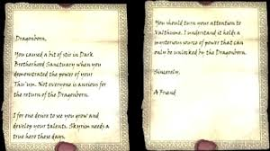 SKYRIM MYTHBUSTERS LETTERS FROM A FRIEND