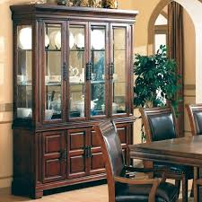 Wondrous Dining Room Hutch With Glass Doors Cabinets Display Modern