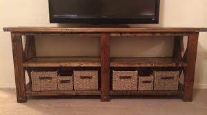 Ana White Rustic X TV Console Table DIY Projects Tv Tables