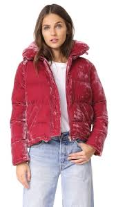 Velvet Is A Super Luxe Material That I Personally Love It Gives The Casual Puffer Jacket More High End Look And Luxurious Feel