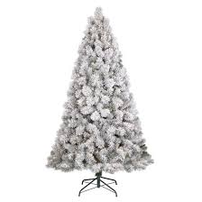 Pre Lit Flocked Artificial Christmas Trees by 6 5ft Prelit Artificial Christmas Tree Flocked Douglas Fir Clear