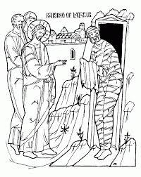 Jesus Raises Lazarus Coloring Page AZ Pages