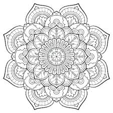 Cool Abstract Coloring Pages For Teenagers Difficult To Print Mandala
