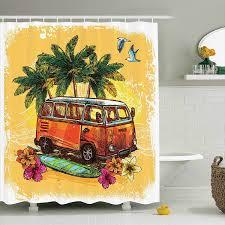 surf dusche vorhang hippie klassische alten mit