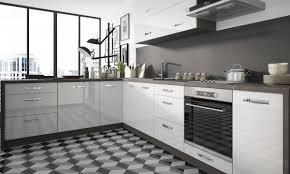 l form küchenzeile essen einbauküche 210x300cm lava front weiß acryl hochglanz