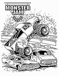 Monster Truck Drawing Coloring Pages Of S Free Download ...