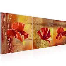 affiliate wandbild blumen mohnblume bilder 120 x 40 cm