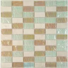 hakatai 1 x 2 brown glass stone uniform brick tile glossy