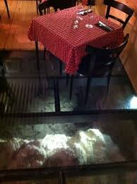 La Antonita Glass Floor In Back Of Restaurant