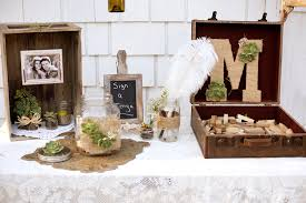 Succulent Wedding Decor Guest Book Table Ideas Burlap Rustic Vintage