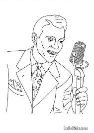 60s Singer Coloring Page