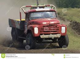 100 Racing Trucks On Unpaved Track Tyumen Russia Editorial