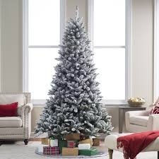 Flocked Christmas Tree 9ft by Flocked Blue Ridge Spruce Christmas Tree With Instant Glow Power