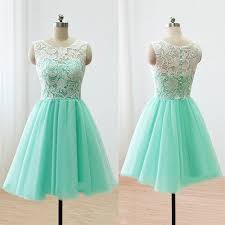 sleeveless green prom dress illusion lace prom dresses with