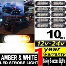 10x 12/24V 4 LED Car Strobe Amber White Flashing Recovery Lights ... Rupse 4 Led Strobe Lights 1224v Super Bright High Power Car Truck G Extreme Vehicle Led Warning Light 3w Slave Surface 12v 24 Long Bar Red White Flash Lamp 4w Emergency Side Marker Grille W Builtin Controller Watt Mount Anderson Marine Division Peterson Manufacturing Company 2x22 Flasher Bars With 54 Hazard Police Grill 911 Signal Usa Unveils Its New Dodge Charger Demo 12 36w Work 6 6w Waterproof Emergencyc Flashing