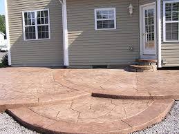 Inexpensive Patio Floor Ideas by Backyard Cement Patio Ideas 393