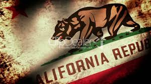 California State Flag Waving Grunge Look Royalty Free Video And