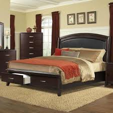 Elements International Delaney Queen Low Profile Bed with Storage