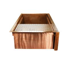 Retrofit Copper Apron Sink by Copper Farm Sink The Photo Of This Custom Copper Farm Sink Was
