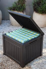 amazon com keter cube wood look 55 gallon all weather garden