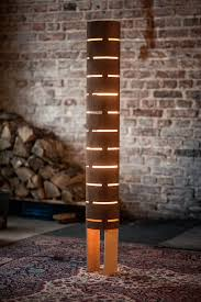 Wood Texture Floor Lamp Ideas