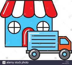 100 Truck Store Online Shopping Logistic Truck Store Market Stock Vector Art
