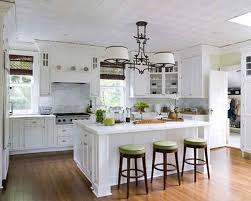 Minimalist Light Kitchen Country Island Design White Glossy Wooden French Cabinets Also
