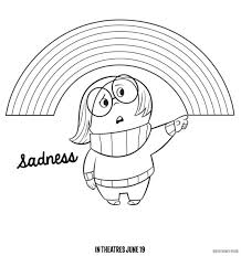 Free Inside Out Coloring Pages Sadness Rainbows