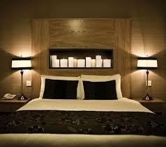 chevet chambre adulte chambre à coucher décoration chambre adulte romantique bougies