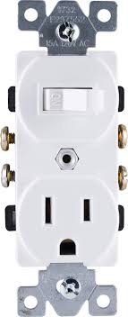 100 Two In One GE Wall Switch Outlet Combo In Receptacle 1 OnOff