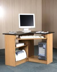 desk corner computer desk with hutch white built in corner
