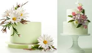 Gumpaste Wildflower Tutorial By Alan Dunn Left Clematis And Chrysanths Cake Lina Veber Right