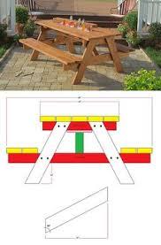 hexagonal picnic table plan from popular mechanics free