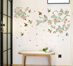 dekoration pfingstrose blume wandaufkleber floral