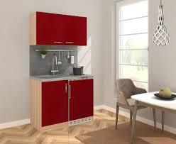 respekta küche miniküche küchenzeile pantry küchenblock 100 cm eiche sägerau rot