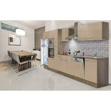 respekta economy küchenzeile lbkb370eycmigke ohne e geräte 370 cm cappuccino