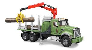 Bruder #02824 Mack Granite Timber Truck With 3 Logs - New Factory ...