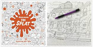 The Splat Coloring 90s Nickelodeon Adult Book
