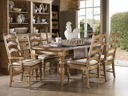 Vintage Rustic Decor Ideas For Dining Room Complete With Wooden Table Set