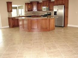 interior tile laminate floors in kitchen with wooden wall cabinet
