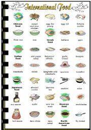 list of international cuisines exercises international food