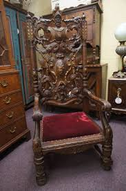 Antique Spanish Throne Chair Conquistador High Back Royal ... Carved Mahogany High Back Ding Side Chairs Collectors Weekly Arm Chair Kiefer And Upholstered Rest From Followbeacon Antique Vintage Set Of 6 Edwardian Oak French Style Fabric Solid Wood Wooden Buy Chairupholstered Chairssolid Beautiful Of Eight Quality Victorian 19th Century Renaissance Throne Four Antiquue Early 20th Art Deco Classical Chinese Fniture A Collecting Guide Christies Pdf 134