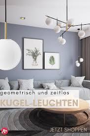 designklassiker kugel leuchten wohnzimmerfarbe