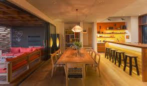Fabulous Casual Home Decor With Long Light Wood Dining Table That Seats 8 People The